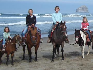 Oregon Coast Horseback Riding Pacific City Oregon